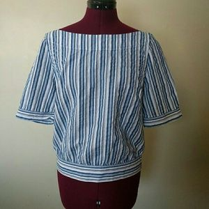 Halogen Women's Top Boat Neck Size Small
